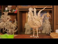 YouTube Jute Crafts, Paper Crafts, Wall Decor Crafts, Bird Nest Craft, Crafts To Make, Diy Crafts, Bobbin Lacemaking, Paper Weaving, Paper Illustration