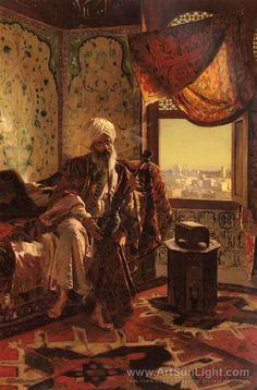 Smoking The Hookah oil painting by Rudolf Ernst @@@@......http://www.pinterest.com/nikitaidou/art-orientalism/