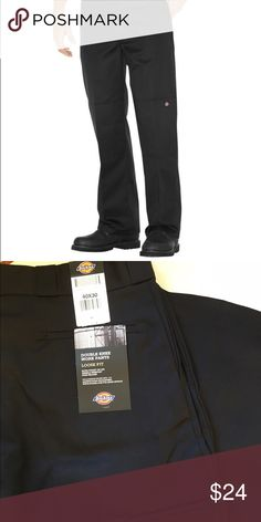 Dickies work pants NWT Dickies double knee work pants. Loose fit. Heavy weight twill, double knee, cell phone/wallet pocket, resists wrinkles and stains. NEW Dickies Pants