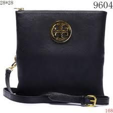 Black and Gold Tory Burch Fold Over Crossbody Purse