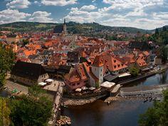 August 2015 Český Krumlov, Czech republic Old town view of Český Krumlov... A UNESCO World Heritage Site... No more comments :) #unesco