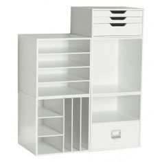Craft Storage - Set B (30 Sets Only) On sale for $99 {valid thru July 31 normally $144.75} I have the 3 drawer one. Letterpress drawers and they sit on top of them selves, makes it easy to grab all 3 and take to your table . Their 4 drawer organizer has verticle/horizontal shelves that the drawers sit on, keeps them separated from the other drawers-other companies don't have the verticle shelf. They have quality product and I would recommend them as the best!