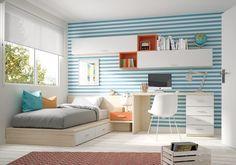 #Dormitorio #juvenil Ringo de Kibuc. #decoraciondehabitacionadolescentes #decoracionhabitacionjuveniles