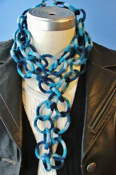 The scarf is over 6 ft long and easily wraps around my neck three times. Scarf Holder, Neck Accessories, Scarf Necklace, Scarf Hat, Neck Piece, Handmade Felt, Neck Scarves, Felted Jewelry, Textile Jewelry