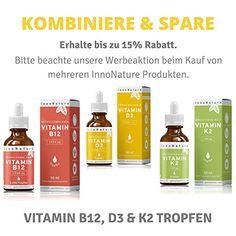 Unabhängig LABORGEPRÜFTER Vitamin D3 Gehalt: Vitamin D3 ( Cholecaciferol ) Tropfen von InnoNature. 1000 I.E. - 25 µg pro Tropfen. 100% rein pflanzlich und flüssig mit hochwertigem nativem Olivenöl. Vitamin D aus Flechten in 50ml. Sehr hohe Bioverfügbarkeit, hochdosiert, vegan und hergestellt in Hamburg, DE. Vitamin B12, Shampoo, Soap, Personal Care, Vegan, Bottle, Braid, Hamburg, Personal Hygiene