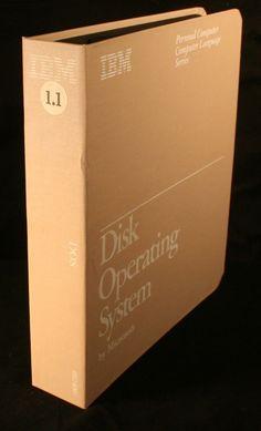 DOS Version 1.1 Vintage Software Microsoft IBM Disk Operating System