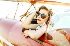 Taylor Swift Inspired retro vintage styled shoot for Senior Photos with airplane! www.devonjimagery.com www.devonjblog.com Copyright 2016 Devon J. Imagery