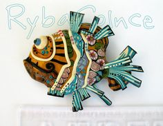 The Sun Fish. by RybaColnce on Etsy, $37.43