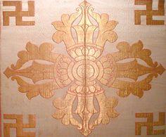 Buddhist (double) Vajra decoration with peaceful swastika. #reclaimthepeacefulswastika