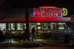 Fleetwood Diner - Ann Arbor by Steve Pepple on 500px  The Fleetwood Diner in Ann Arbor is a long-time after bar hangout and magnet for bohemians, hippies, punkers, etc. It recently got a new look with a fancy retro neon sign