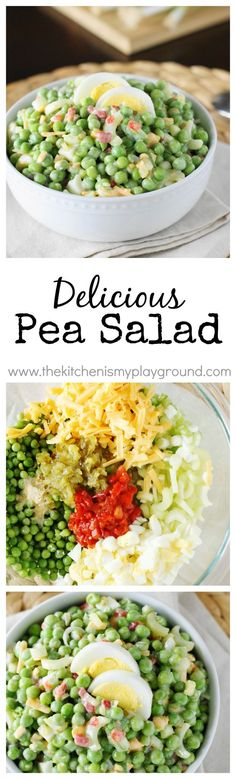 Pea Salad - so tasty and not your usual choice
