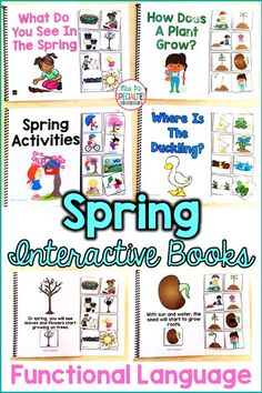 Teach students about spring and develop functional language with these interactive books. These adapted books are designed for students in special education classrooms, for speech therapy, for self-contained classrooms and life skills programs. These books are so popular with our students because they offer tons of hands on opportunities and make learning fun!