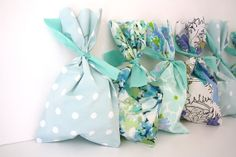 Pretty Vintage Fabric Party Favor Bags  Set of 8  by SparklePower, $12.00