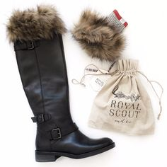Faux fur boot cuffs - Royal Scout & Co.