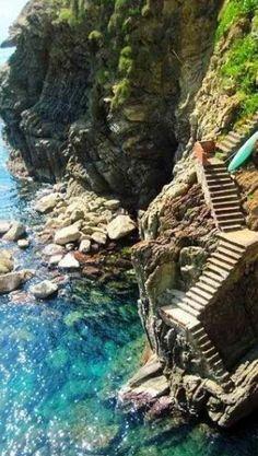 Steps at the Almafi Coast, Italy