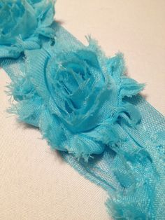 Light Bright Blue Chiffon Flowers by MonAmiePaperie on Etsy, $5.44