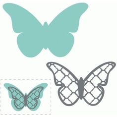 Silhouette Design Store: lattice layered butterfly