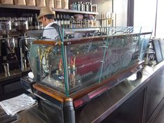 See-Through La Marzocco Espresso Machine