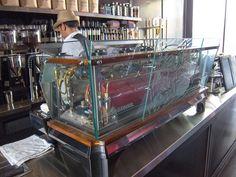 See-Through La Marzocco Espresso Machine With Glass Side Panels