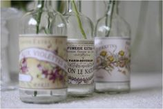 I adore these vintage style glass pots.