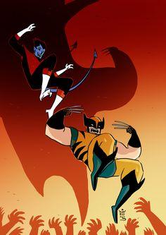 Wolverine and Nightcrawler by Kambadais on deviantART
