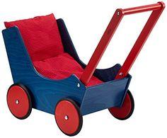 Haba 1625 Puppenwagen blau Haba