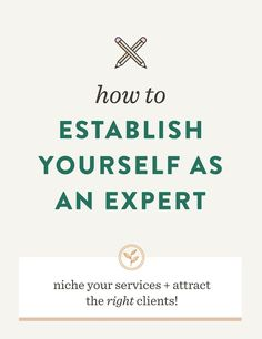 How to Establish You
