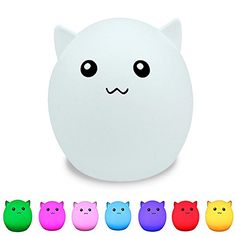 Led Lamps Touch Sensor Led Colorful Night Light Animal Cat Snowman Usb Rechargeable Silicone Soft Cartoon Baby Nursery Lamp For Children Clearance Price Lights & Lighting