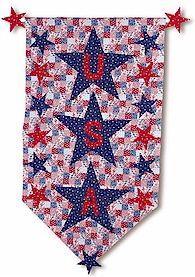 Patriotic no sew banner