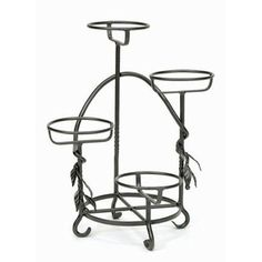 Wrought Iron Cascading Plant Stand Achla Designs Outdoor Plant Stands Plant Stands Home De