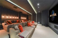 More ideas below: DIY Home theater Decorations Ideas Basement Home theater Rooms Red Home theater Seating Small Home theater Speakers Luxury Home theater Couch Design Cozy Home theater Projector Setup Modern Home theater Lighting System Home Theater Lighting, Home Theater Setup, At Home Movie Theater, Home Theater Seating, Home Theater Design, Home Cinema Room, Home Theater Rooms, Cinema Room Small, Home Theaters Pequenos
