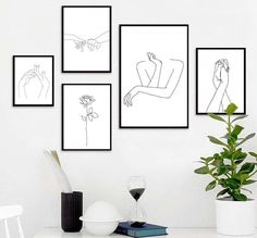 leinwand, Sexy Women Body Nordic Poster&Print Line Drawing Modern Canvas Painting Wall Art Mural Modular Picture Girls Bedroom Home Decor Mural Wall Art, Abstract Wall Art, Wall Art Decor, Wall Art Prints, Painting Abstract, Wall Of Art, Painting On Wall, Painting Carpet, Simple Wall Art