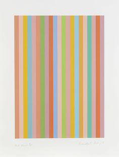"Bridget Riley, ""And About"" Screenprint in colours, 2011"