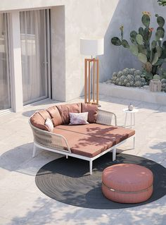 Barcelona Chair, Take A Seat, Outdoor Sofa, Outdoor Living, Daybed, Furniture Collection, Aluminium, Small Spaces, Branding Design