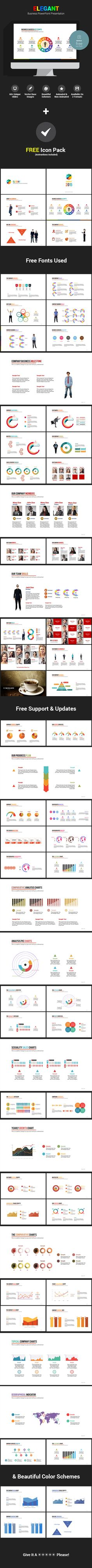 Elegant - Business PowerPoint Presentation Template #design Download: http://graphicriver.net/item/elegant-business-powerpoint-presentation/11774899?ref=ksioks