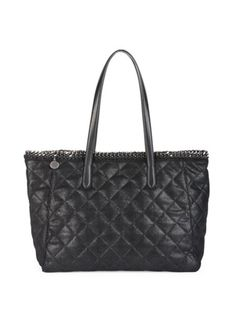 Stella McCartney - East-West Quilted Faux-Leather Tote Quilted Tote Bags,  Stella aeaae0b8a5