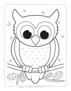 Birds Coloring Pages for Kids - Itsy Bitsy Fun Owl Coloring Page for Kids Kids Printable Coloring Pages, Free Kids Coloring Pages, Christmas Coloring Pages, Coloring Pages To Print, Coloring Book Pages, Coloring Pages For Kids, Owl Printable Free, Kindergarten Coloring Pages, Spring Coloring Pages