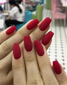 36 Cute Spring Nail Art Designs to You Copy Immediately - Beauty - Nageldesign Cute Red Nails, Cute Spring Nails, Spring Nail Art, Hot Nails, Short Red Nails, Sexy Nails, Red Nail Designs, Nail Designs Spring, Acrylic Nail Designs