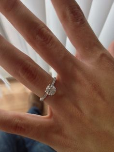 solitaire 1 ct engagement ring, so simple and yet so beautiful! I love the small appearance yet gorgeous quality