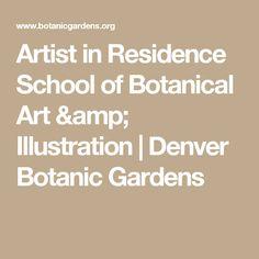 Artist in Residence  School of Botanical Art & Illustration | Denver Botanic Gardens