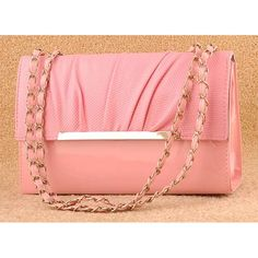 #Pink ice retro trim chain #clutch evening bag