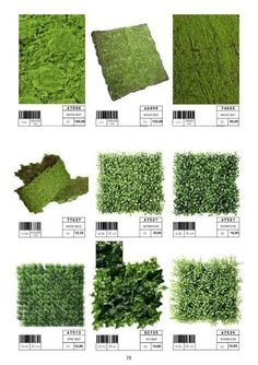 Different sizes and formats of artificial grass, moss, garden tiles … - Alles über Dekoration