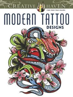Enter into a racy world of tattoo art with these edgy, imaginative renditions of flowers, dragons, skulls, hearts, wild animals, angels, and other creatures of...