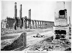 Ruins of a railroad depot in South Carolina