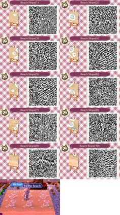 Beach Slope Path Animal Crossing:New Leaf QR codes. Requested by Rainbow@Fellows