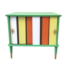 1970s inspired record cabinet using Chalk Paint by Annie Sloan.