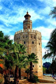 Torre del Oro in Seville, Spain Places To Travel, Places To See, Places Around The World, Around The Worlds, Sevilla Spain, Andalusia Spain, Places In Spain, Belle Villa, Spain And Portugal