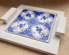 Bandeja mdf base azulejo   Atelier Marcela Freitas - Criações Personalizadas   Elo7
