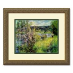 ''The Seine at Chatou'' Framed Wall Art by Pierre Auguste Renoir