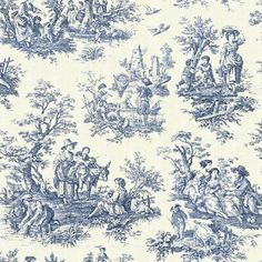 Toile de Jouy...fabric for kitchen curtains.